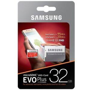 MICROSD-32-GB-SAMSUNG-EVO-PLUS-95-MB-s-PER-TUTTI-I-NOTE-NOTE-2-NOTE-3-NOTE-4