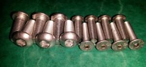 MGF-MGTF-Stainless-Roof-Hood-Hard-Soft-Top-Sunvisor-Screws-MG-F-TF-Roof