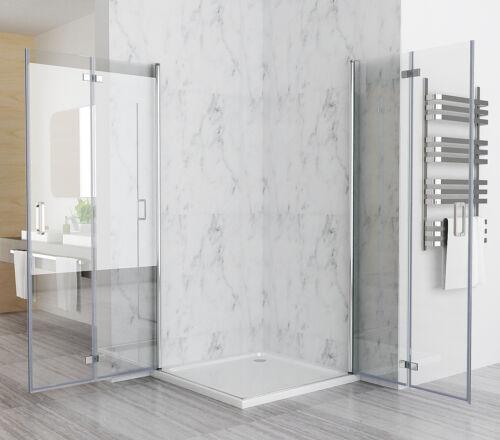 90 x 75 cm Duschkabine Eckeinstieg Duschwand Duschabtrennung Dusche NANO Falttür