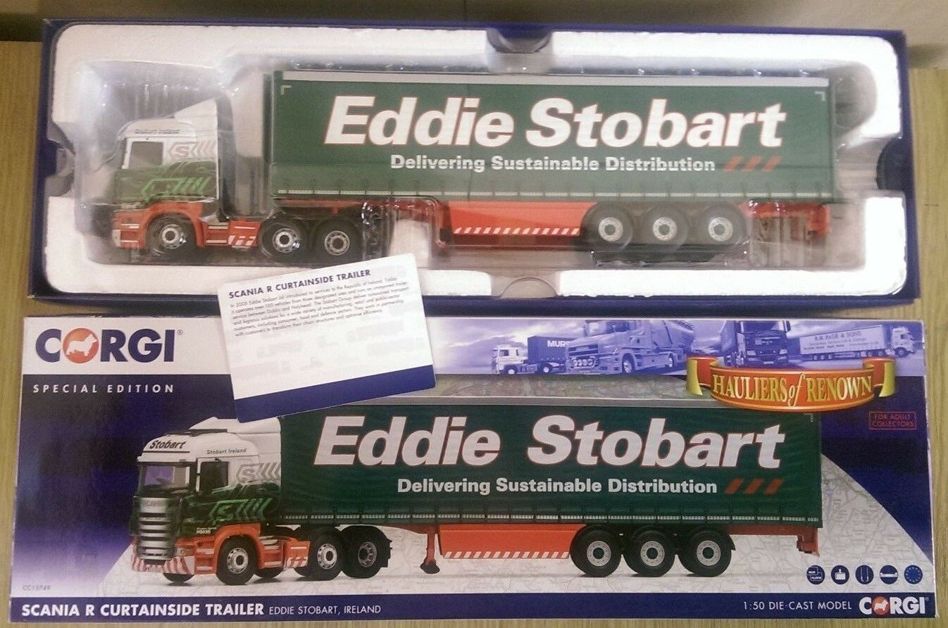 CORGI CC13749 SCANIA R Curtainside Trailer Eddie Stobart Irlanda SPEC. Edition