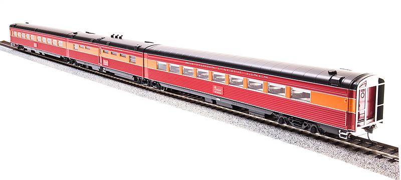 HO Scale - BROADWAY LIMITED 696 SOUTHERN PACIFIC Articulated Diner Cars LIGHTED