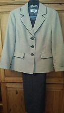 Le Suit Women's Size 16 (14) Brown Beige Tweed Pant & Jacket Blazer Suit