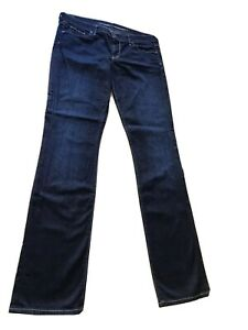 CITIZENS-OF-HUMANITY-Dark-Wash-Jeans-Ava-Woman-Size-31-Low-Rise-Straight-Fit