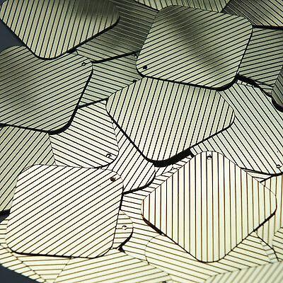 """Sequin Square Diamond 1.5"""" Gold Black Pinstripe Metallic Couture Paillettes Om Een Ongewoon Uiterlijk Zeker Te Stellen"""