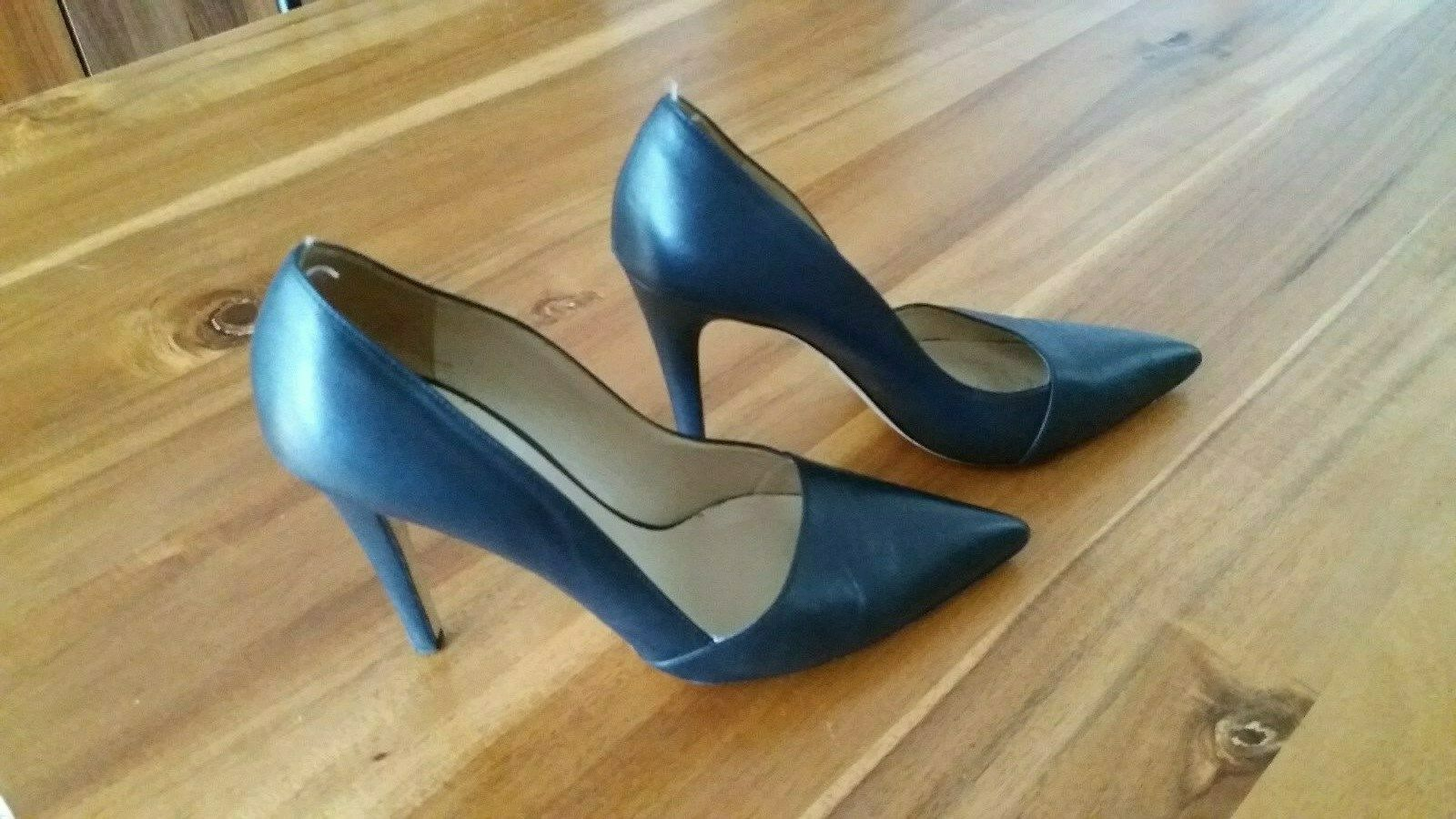 SAKS 5th Avenue Schwarze Leder Pumps Stilettos gr.38 elegante Schuhe Business