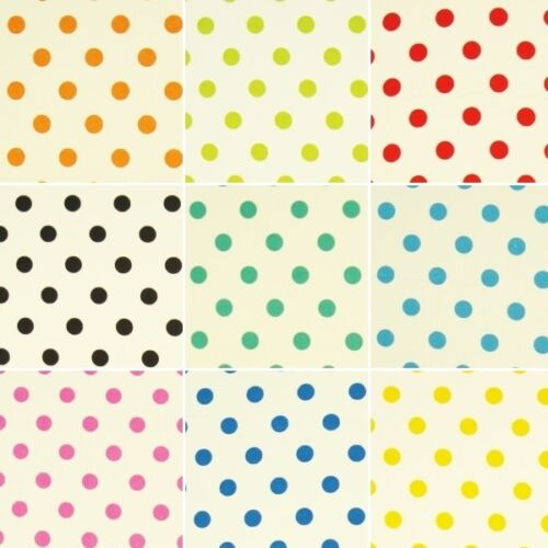 12mm Polka Dots Spots 100/% Cotton Poplin Fabric Patchwork Fabric Freedom