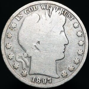 1897-U-S-A-Barber-Half-Dollar-Silver-Coins-KM-Coins