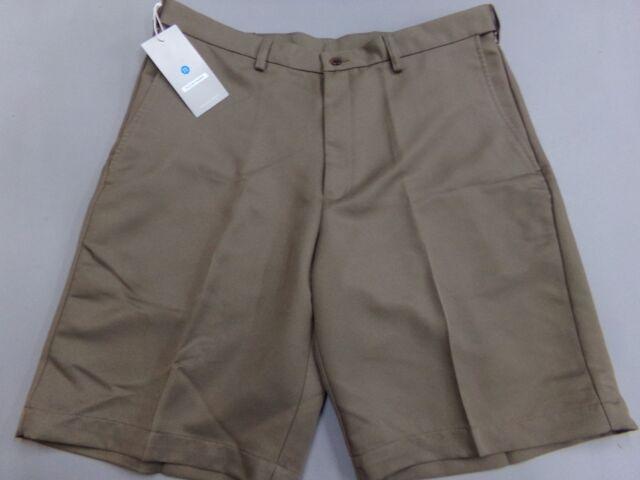 Mens Size 32W Haggar Performance Cool 18 Wear Shorts Bark Brown NEW Golf 32