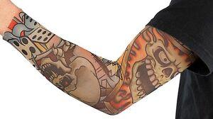 Tattoo-Armling-Skull-Kopf-Tattoostrumpf-Tattooaermel-Armling-Karneval-Fasching