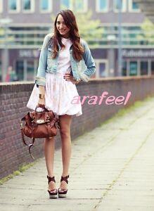 Denim-Jean-Jacket-Lace-Rose-Vintage-Distressed-Washed-Bomber-Crop-Blazer-Arafeel