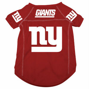 another chance 87ff4 60f97 Details about NEW YORK GIANTS PET DOG MESH FOOTBALL JERSEY ALTERNATE RED  LARGE