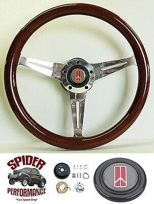 "1969-1993 Oldsmobile Cutlass 98 Delta 442 Black on Billet Steering Wheel 14/"""