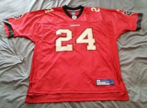 promo code 72195 af5cd Details about CADILLAC WILLIAMS #24 TAMPA BAY BUCS RED REPLICA FOOTBALL  JERSEY X-LARGE u
