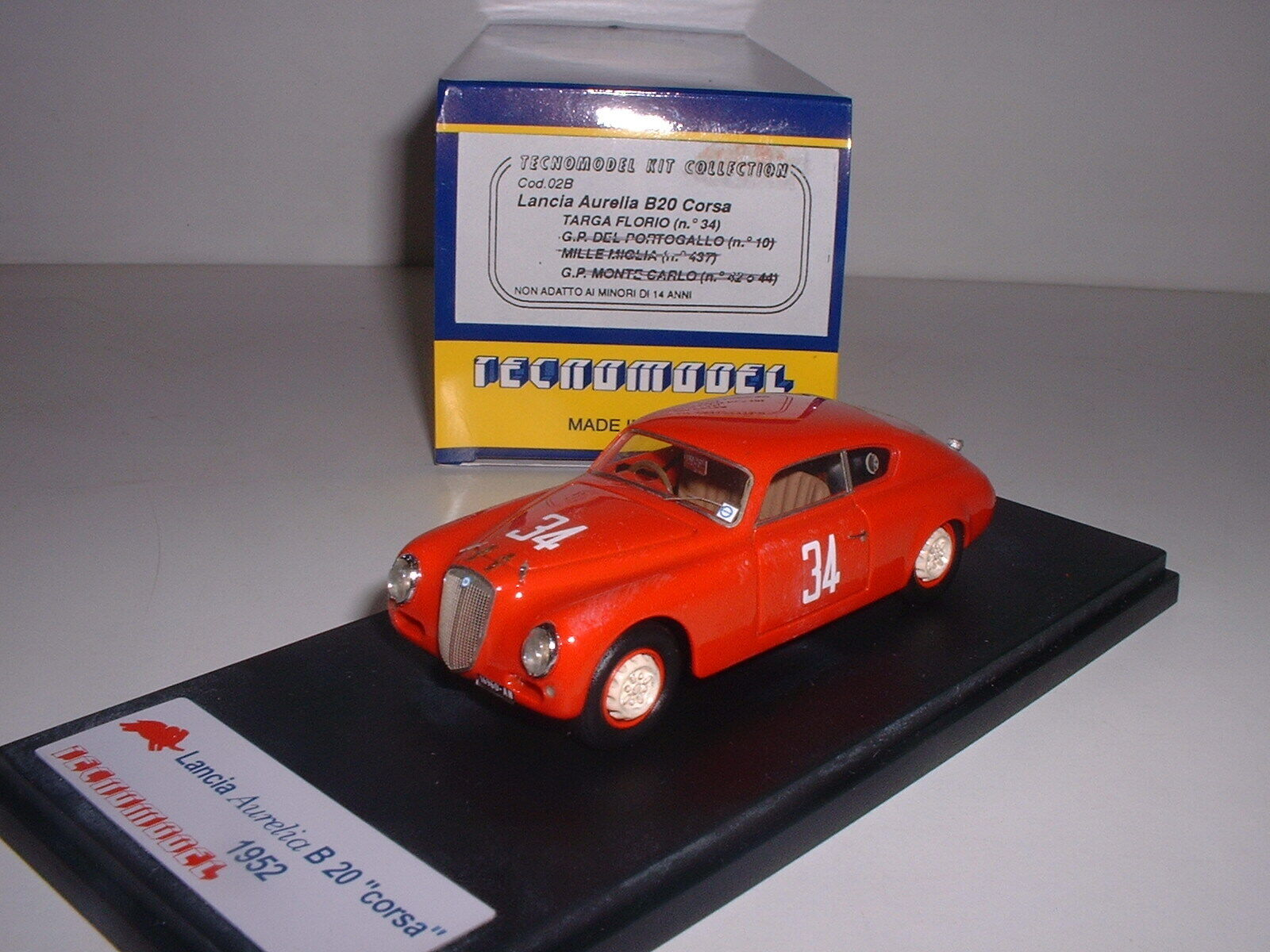 Lancia Aurelia B20 Corsa 1952 Targa Florio  34 (1 43, Tecnomodel)