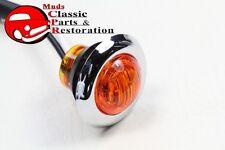 Dual Function Mini Amber Stainless Turn Signal Blinker Light Truck Hot Rat Rod