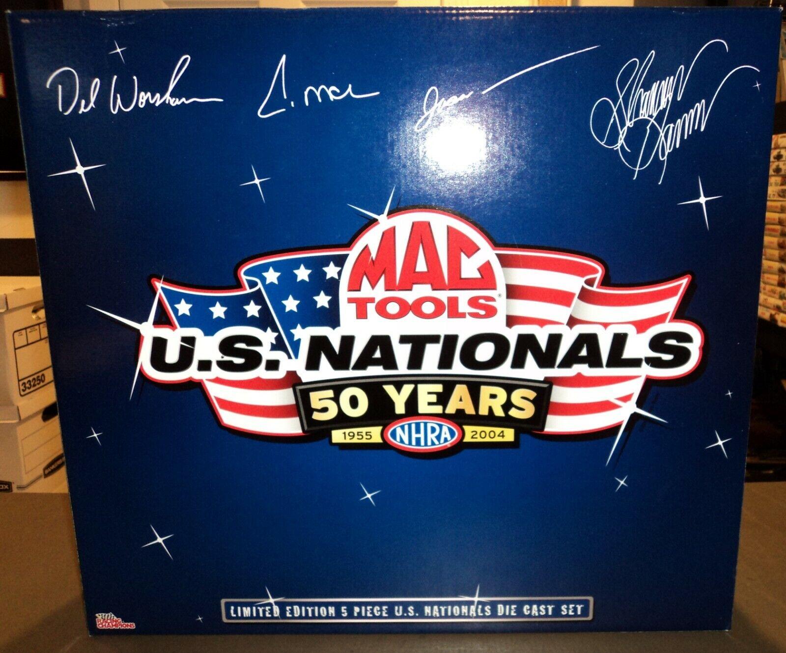 Racing Champions Mac herramientas nacionales de Estados Unidos 50 años 2004 1 24 coche 5 Die Cast Set
