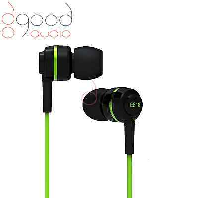SoundMAGIC ES18 AWARD WINNING IN-EAR HEADPHONES / EARPHONES  GREEN / BLACK BNIB