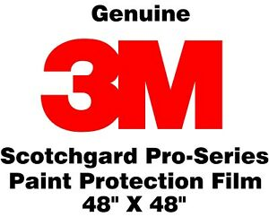 "Paint Protection Film Clear Bra 3M Scotchgard Pro Series 12/"" x 60/"" Sheet"