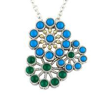 Andrea Candela 18k Yellow Gold Silver Blue Turquoise Cable Necklace Acn144-tqga