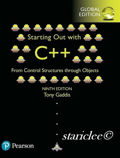 C++ gaddis out tony with pdf starting