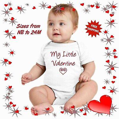 Gerber Onesie Baby Infant Valentines KiSSES 25¢ Cute Love Boy Girl Premie-24M