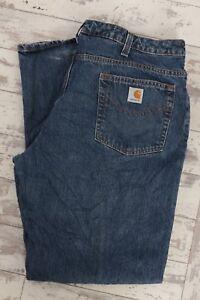 b4cea1bb53f Carhartt Women s Relaxed Fit Denim Work Jeans - Blue   38W 33L ...