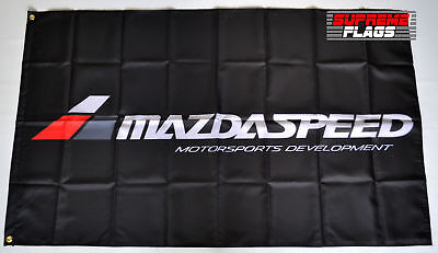 New Banner Flag for Mazdaspeed Flag 3x5FT Wall Banner Shop Show Decor Black