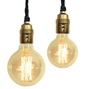 Glühlampe Retro Lampe Filament rund E27 Nostalgie Glühbirne antikgelb