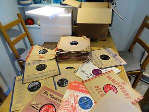 Buen-Trabajo-Lote-De-50-1950S-78s-Elvis-Presley-Bill-Haley-Pat-Boone-Tommy-Steele