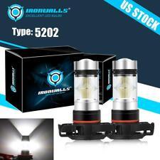 5202 Led Fog Light Lamp Bulbs For Gmc Sierra 1500 2500 3500 Hd 2008 2016 6000k Fits Mustang