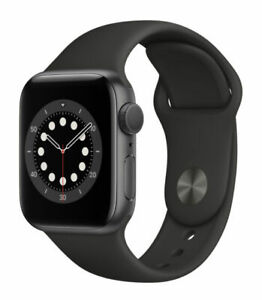 Apple Watch Series 6 40mm Space Gray Aluminum Case with Black Sport Band - Regular (GPS) (MG133LL/A)