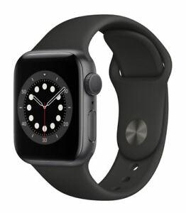 Apple Watch Series 6 40mm Space Grau Aluminiumgehäuse mit Schwarz Sportarmband - Regular (GPS) (MG133FD/A)
