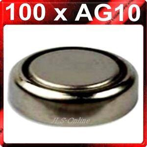 100-x-Piles-Bouton-Alcaline-Cellules-AG10-LR1130-LR54-389-10-cartes-de-10