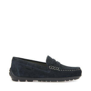 deficiencia Palacio de los niños Privilegio  GEOX Nuevo Rápido J826CA Zapatos Niños Niños Mocasines Casual de Ante  Marino | eBay