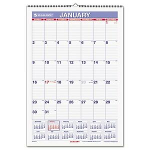 At A Glance 2017 Laminated Monthly Wall Calendar PMLM0328 | eBay