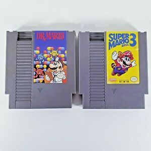 2-Game-Lot-Super-Mario-Bros-3-amp-Dr-Mario-For-Nintendo-Entertainment-System-NES