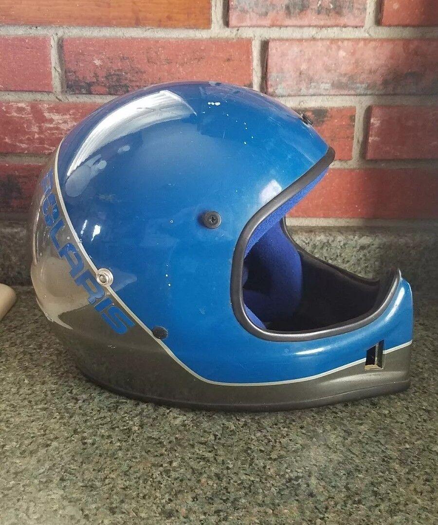 Vintage Polaris Snowmobile Helmet By Bell Men's Large.