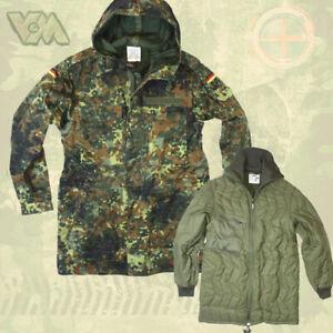 Original Armée Allemande Parka M Nourriture Camouflage Bw Veste Tropique Otan Gotcha-afficher Le Titre D'origine Renforcement Des Nerfs Et Des Os