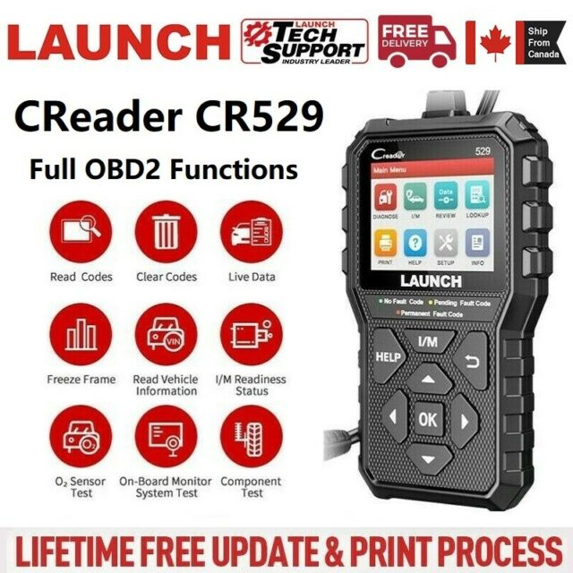 LAUNCH Creader CR529 Fault Code Reader Scanner OBD2 EOBD Diagnostic Scan Tool