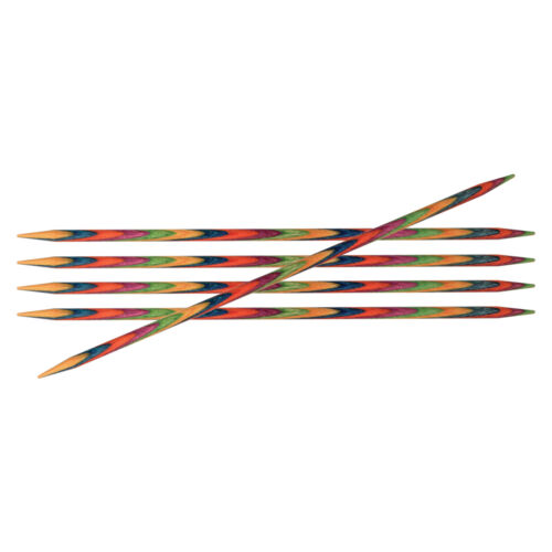 1x Symfonie Knitting Pins Double-Ended Set of Five 10cmx4mm Tool Hobby