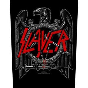 Printed-Sew-on-BACK-PATCH-100-Official-Licensed-Merch-SLAYER-Black-Eagle