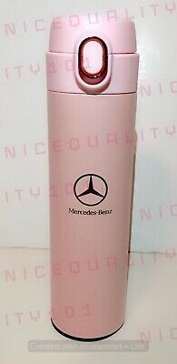 Stainless Steel Thermal Mug Tumbler Cup Including Bamboo Cap Travel 40oz Lilac Mercedes Benz