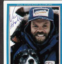 Alaska Iditarod 1992 Dogsled Dog Racer Vern Halter Musher SIGNED Autograph Card