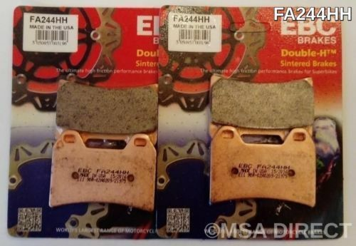 BMW F800R / S / ST (2006 to 2014) EBC Sintered FRONT Brake Pads (FA244HH) 2 Sets