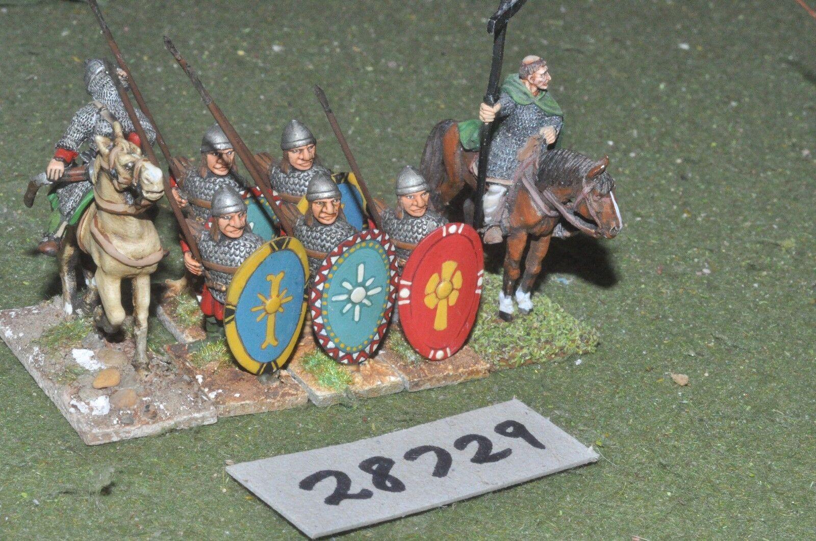 25mm dark ages   byzantine - battle group 7 figures - inf (28729)