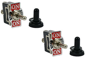 2 pc TEMCo 20A 125V SPDT 3 Terminal Toggle Switch Momentary ON -OFF- ON