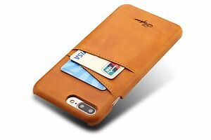 iPhone-7-und-iPhone-8-Schutze-Tasche-PU-Leder-Farbe-Khaki-Luxus-Case-huelle-Neu