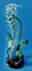 Vtg-Murano-Aqua-Blue-Green-Sea-Horse-Hippocampus-Italian-Art-Glass-Sculpture