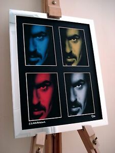GEORGE MICHAEL LTD EDITION SIGNED POP ART CANVAS