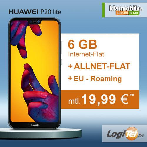 Huawei P20 lite Handy mit klarmobil Vertrag 6GB Allnet Flat inkl. 19,99€ mtl.